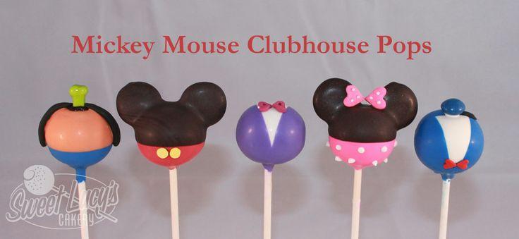 Mickey Mouse Club House Cake Pops Mickey, Minnie, Daisy, Donald and Goofy