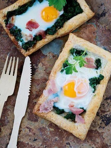 Hojaldres con huevos