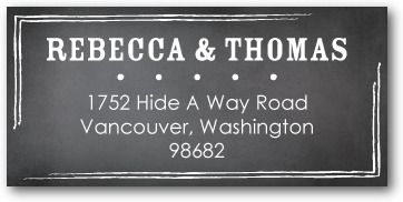 Personalized Address Labels Beautiful board
