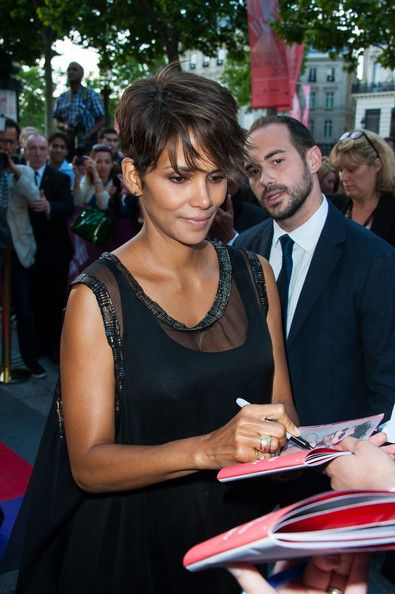 Halle Berry Lookbook: Halle Berry wearing Pixie (1 of 8). Halle Berry rocked her signature short crop with a long, edgy pixie cut.