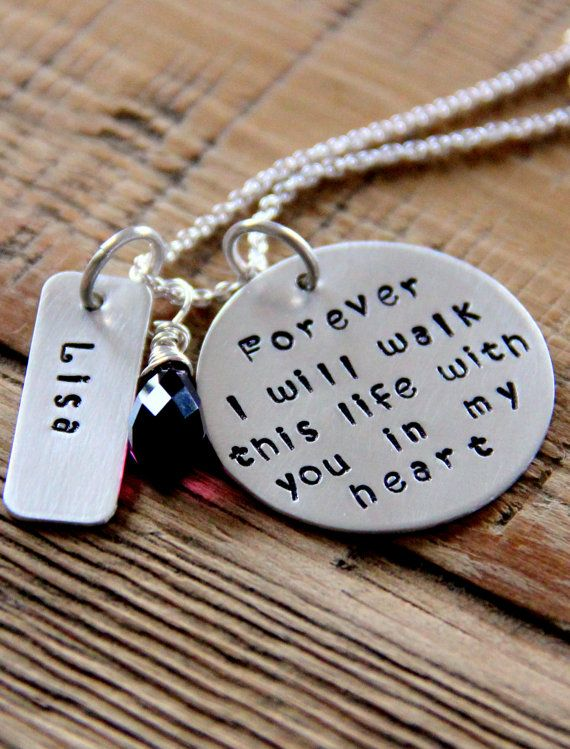 Loss of Loved One Necklace, Sterling Silver Memorial Jewelry, Memorial Necklace, God, hold you in My heart, Loss To Cancer, Gift For Friends
