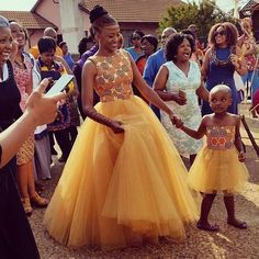 I love the combination of African print and tulle