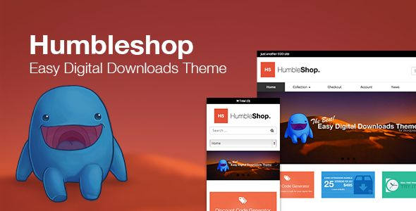 Humbleshop - Minimal Easy Digital Downloads Theme . Humbleshop has features such as High Resolution: No, Widget Ready: Yes, Compatible Browsers: IE9, IE10, IE11, Firefox, Safari, Opera, Chrome, Compatible With: Easy Digital Downloads 2.0.x, Framework: Underscores, Software Version: WordPress 4.6, Columns: 3