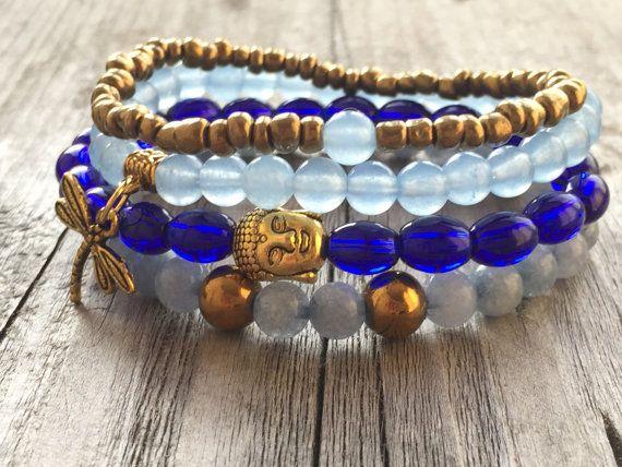 Armbanden set Dames armbanden Stretch armbanden door KennlyDesign