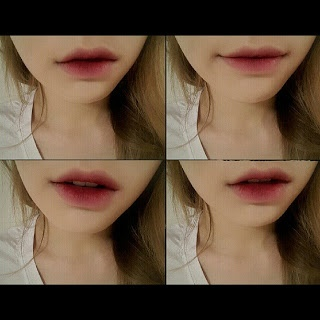 Taeyeon using a gradient lip here with a very intense centre.