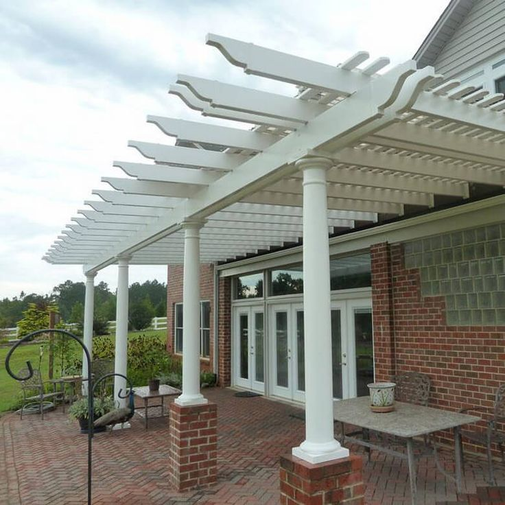 Attached pergola 25 Pinterest