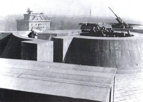 On top of the Tiergarten flak tower.