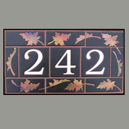 House Numbers   Falling Leaves 242  Custom Designer series