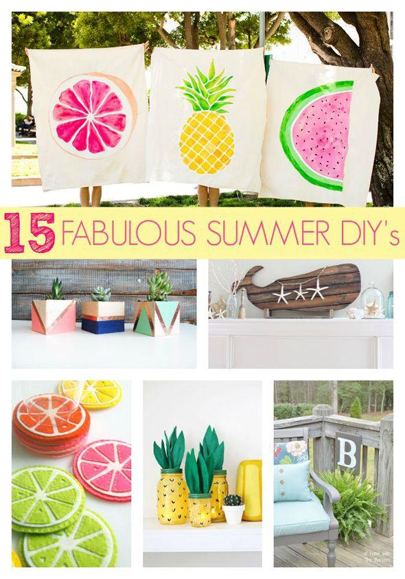 15 Fabulous Summer Diy Projects Diy Crafts Summer Diy Diy