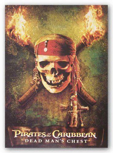 Pirates of the Caribbean - Dead Mans Chest: Skull by Walt Disney 8.625x12.125 Art @ niftywarehouse.com #NiftyWarehouse #PiratesOfTheCarribbean #Pirates #Movies #Pirate