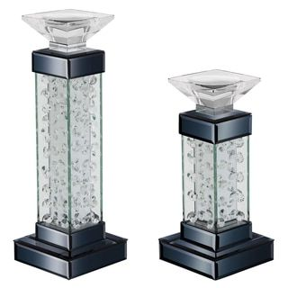 Gorgeous crystal candle holders