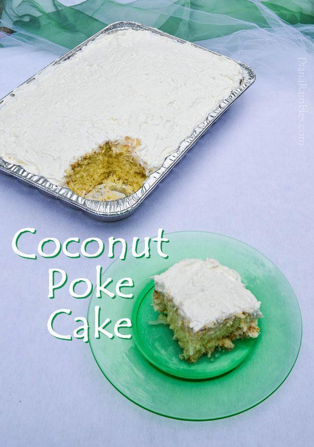 Coconut Poke Cake - #Dan330 http://livedan330.com/2015/08/04/coconut-poke-cake/