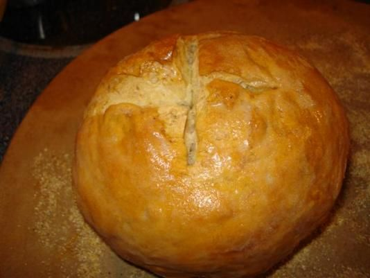 Homemade Sourdough Bread Bowls--- Recipe also at    http://www.foodnetwork.com/recipes/emeril-lagasse/basic-sourdough-bread-recipe/index.html