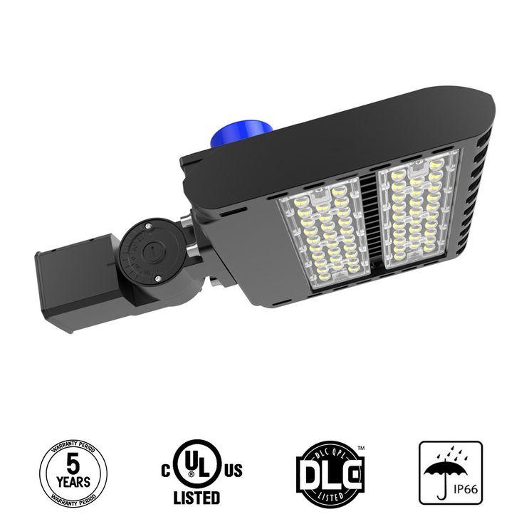 LED Parking Lot Light, 150W Street Area Light Lumileds SMD 3030 LED 130 Lm/W Daylight 5700K Bright White Light with Photocell Sensor&Shorting Circuit Cap, 3-Type Mounts Adiding IP66 UL DLC Listed