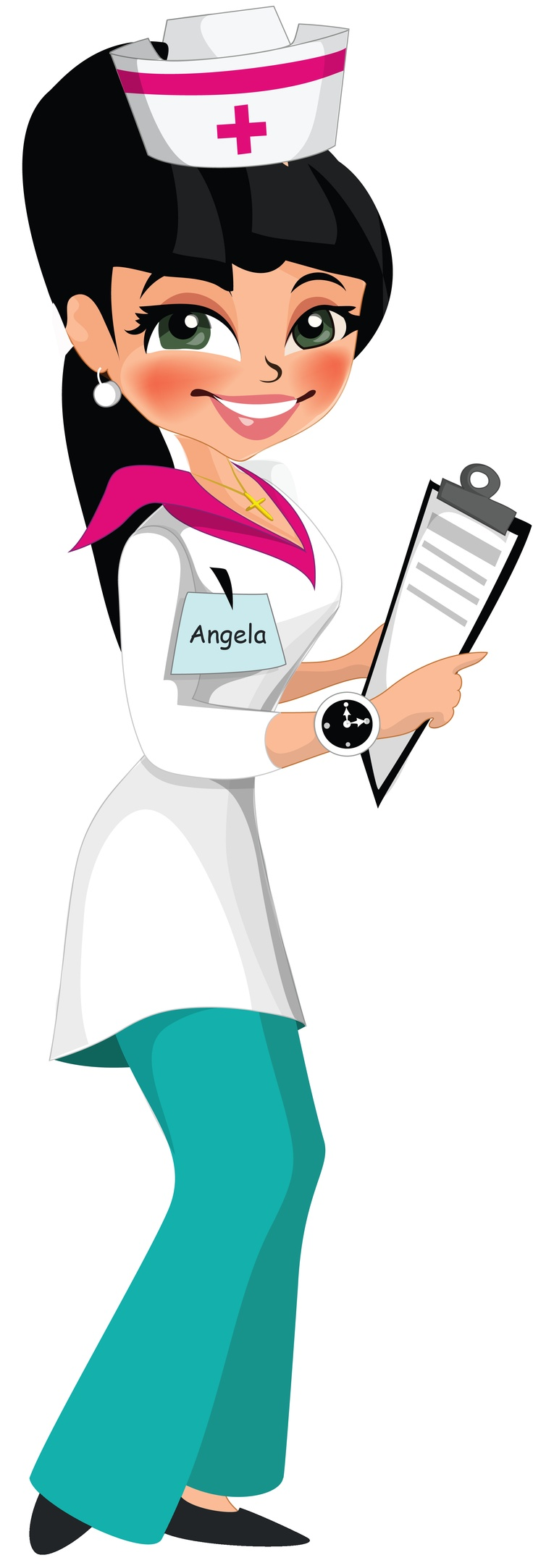 Dibujos. Clipart. Digi stamp - Doctor - Nurse - Enfermera
