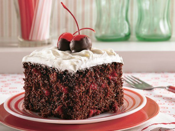 Cola cake is a Southern classic! This easy version uses a boxed devil's food mix and cherry cola, and is ready in just four easy steps. Dip the cherries in melted chocolate for an extra-special treat.