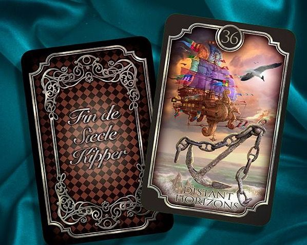 Famed tarot & Lenormand artist Ciro Marchetti releases 2 more cards from his forthcoming Kipper deck, now called the Fin de Siecle or Century's End. There will be 2 extra cards! Also the deck will be edged in silver!