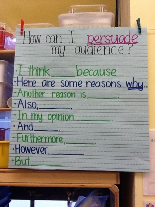 persuasive writing kindergarten This free printable worksheet features five boxes for sentences, to gear up students for writing persuasive paragraphs in the first box, kids write a.