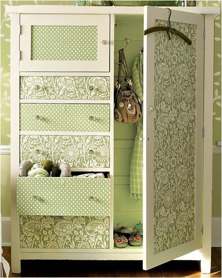 25 Amazing DIY Furniture Makeovers With Wallpaper More