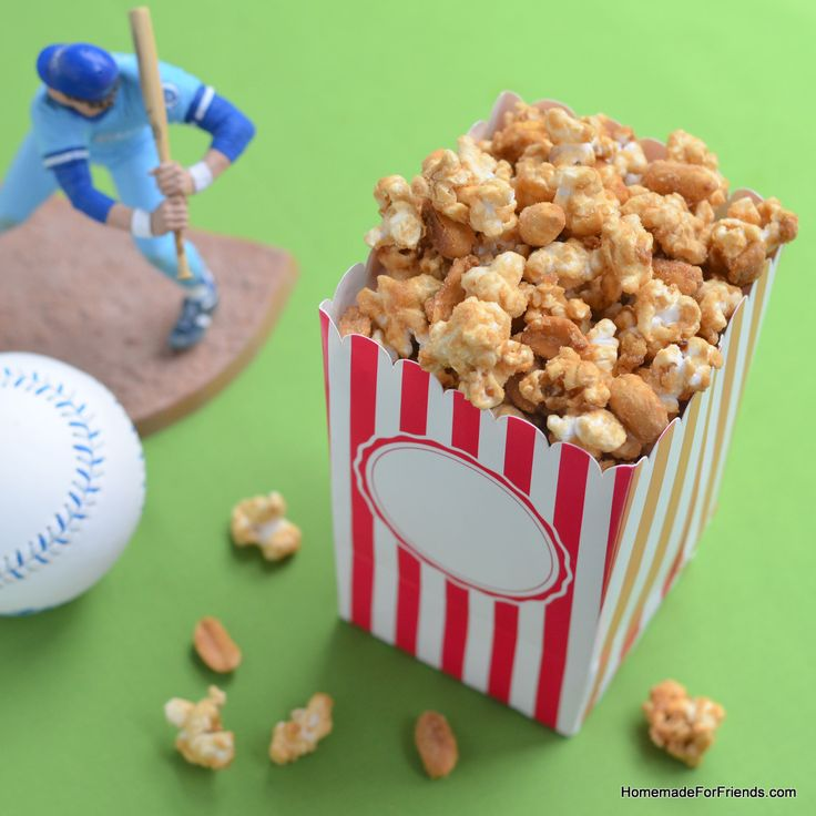 Here is a gift Dad will love: Homemade Cracker Jack (Caramel Popcorn Mix)