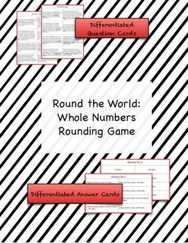 This rounding games gives 8 real world scenarios about traveling the world.  It is great for students to practice rounding to the nearest tens, hundreds, and thousands place.  Two sets of question cards and two sets of answer cards are included for easy differentiation. (scheduled via http://www.tailwindapp.com?utm_source=pinterest&utm_medium=twpin&utm_content=post179019223&utm_campaign=scheduler_attribution)