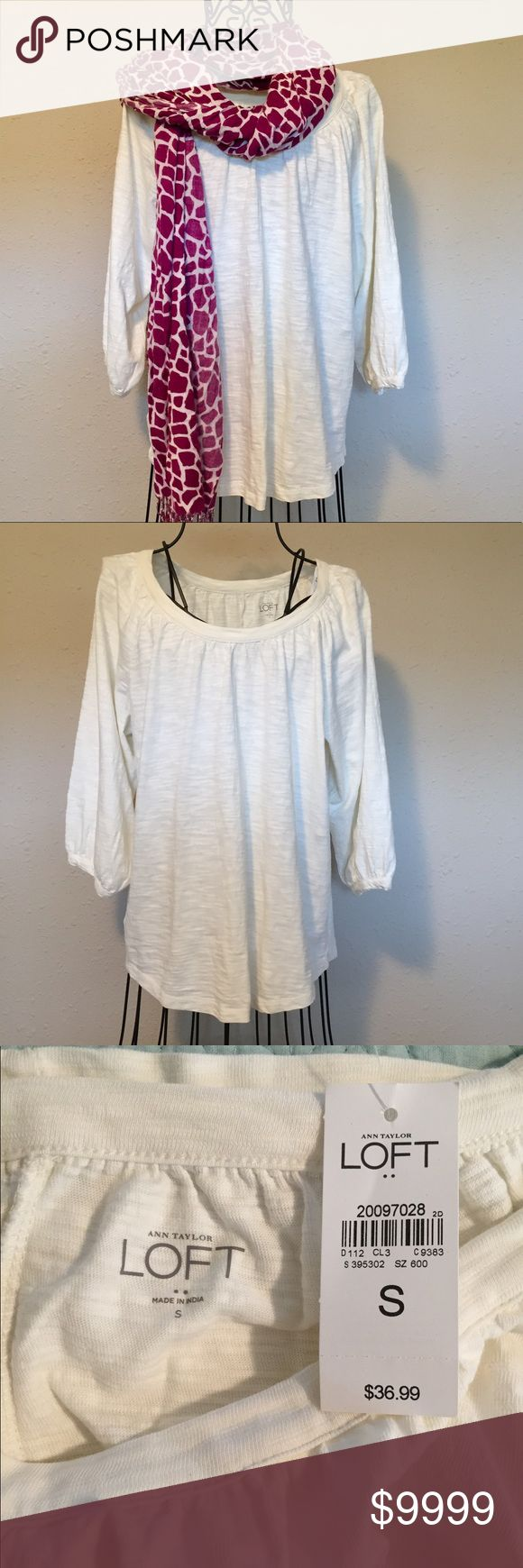 Best Just In Loft Winter White Blouse NWT NWT