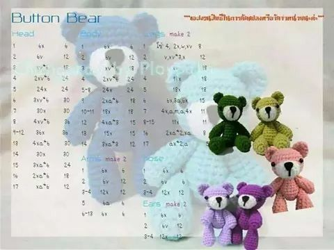 Button Bear amigurumi patron