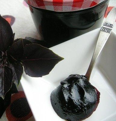 Мармелад из черной смородины с базиликом : Варенье