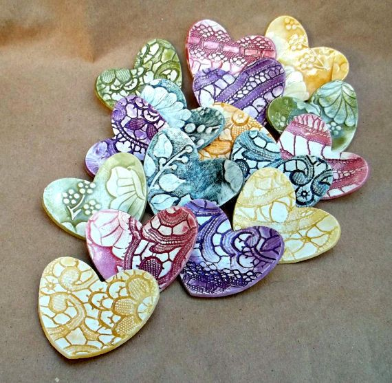 Made to Order TEN Itty Bitty Ceramic Heart Bowls by dgordon, Etsy