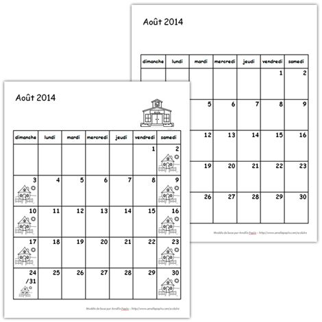 Calendrier 2014-2015 (1er cycle)