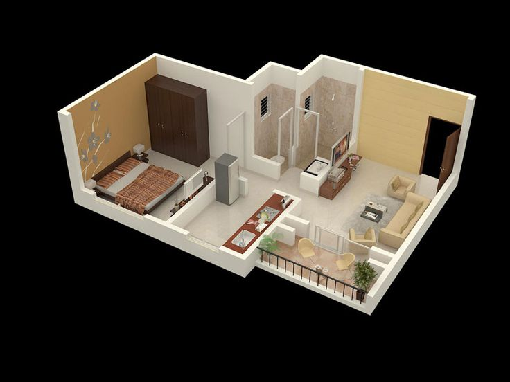 Cool interior ideas for a 1bhk flat homeandgarden for 1 bhk apartment design