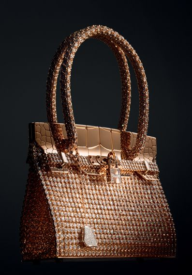 Hermes Birkin Sac bijou in rose and white gold with 2,712 diamonds