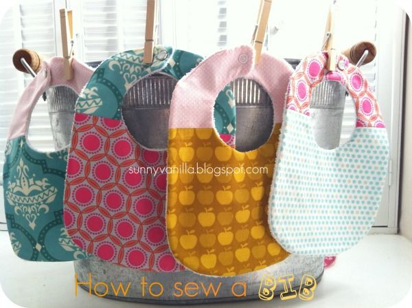 Sunny Vanilla: How to sew a bib + FREE pattern