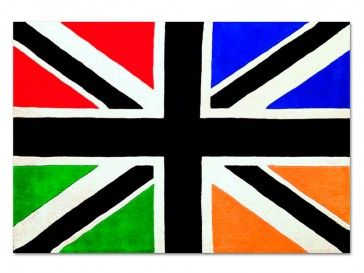Alfombra UK Multicolor de Toulemonde Bochart, diseño por Jean Charles de Castelbajac - Tendenza Store