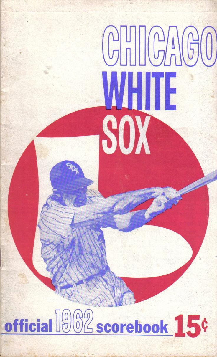 239 best chicago white sox images on pinterest chicago white sox 1962 baseball program chicago white sox vs boston red sox unscored ebay sciox Choice Image