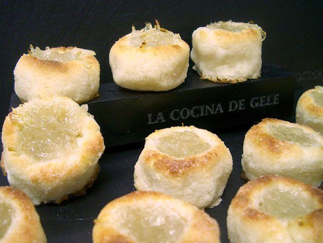 La cocina de Gele.: Mazapanes rellenos de cabello de Ángel