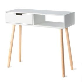 2-Tone Hallway Table - White