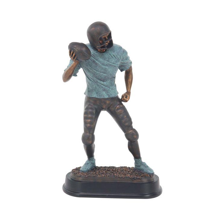 Studio 350 Modern Ceramic Passing Football Player Sculpture