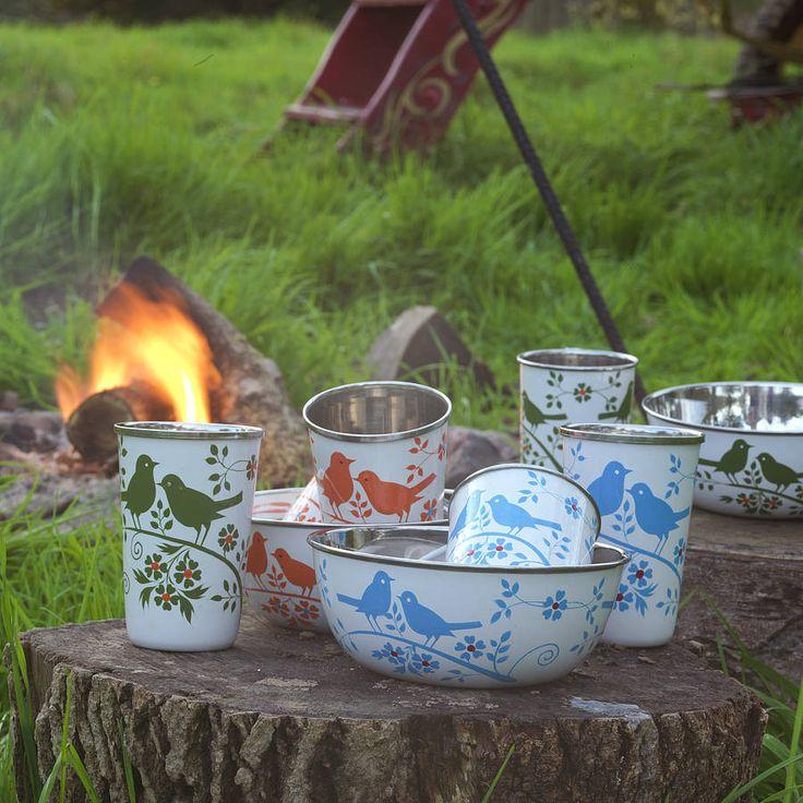 enamel camping set by nkuku | notonthehighstreet.com