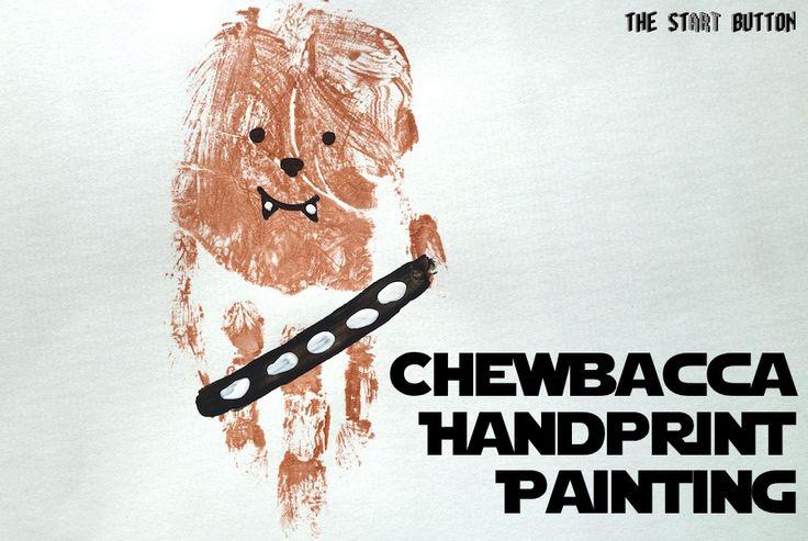 Chewbacca Handprint Painting Star Wars Kids Crafts Star