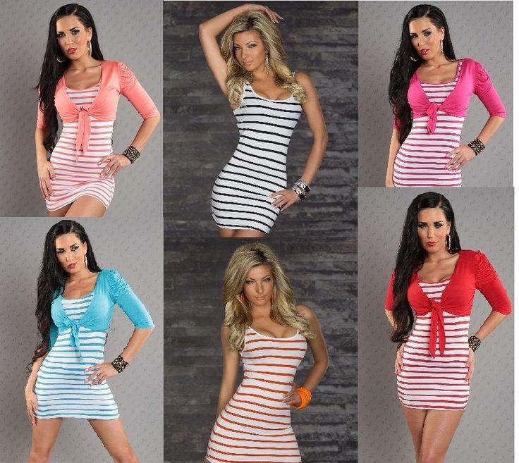 Streifen Minikleid,Longshirt,Strandkleid,Longtop Top,Tanktopkleid,Shirt, S, M, L