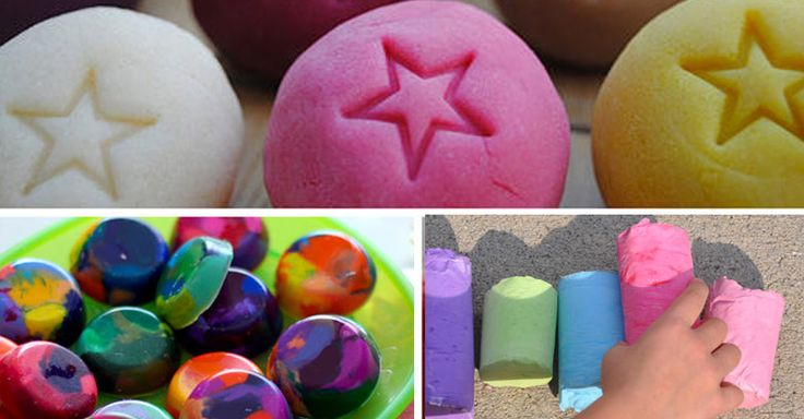 Make your own crayons, play doh, bubble mix, baby wipes, giant chalk, yoghurt, finger paints, food dyes and many other homemade DIY kiddie essentials.