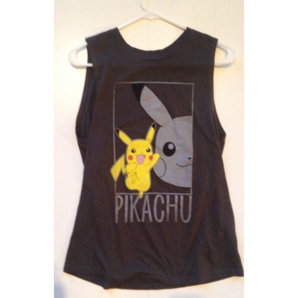 Pokemon tank top Cute Pokemon shirt! Hardly worn and in great condition! Hot Topic Tops Tank Tops