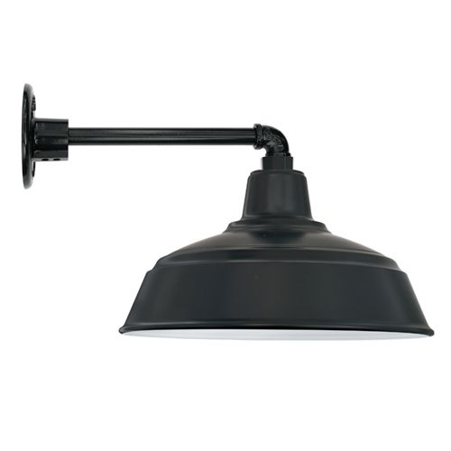 If you're trying to pull together a job on time and on budget, the All Weather Gooseneck Farm Light Wall Mount is the ideal fixture to do both. This American-made light is perfect for indoor or outdoor use and will provide plenty...