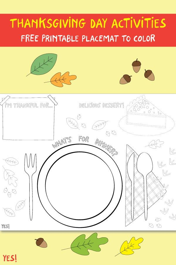 Printable Thanksgiving Placemat To Color Yes We Made This Thanksgiving Placemats Preschool Thanksgiving Activities Thanksgiving Placemats