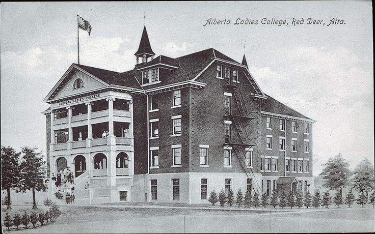 Alberta Ladies College, Red Deer, Alberta, Canada; founded in 1913 and moved to S. Edmonton in 1916
