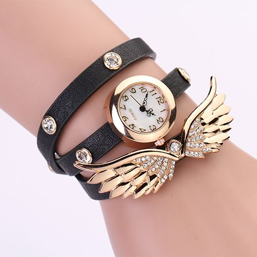 Find More Wristwatches Information about PL127 2014 New women vintage leather strap watches,set auger angel wings rivet bracelet women dress watch wristwatch HOT,High Quality watch,China watch bag Suppliers, Cheap watches violet from 77 Fashion  on Aliexpress.com