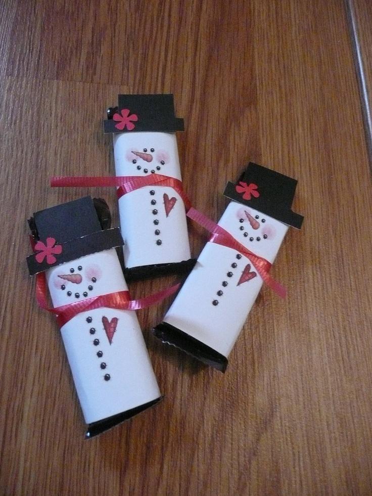 Hershey Bar Snowmen Santa Baby Pinterest Snowman