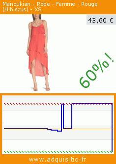Manoukian - Robe - Femme - Rouge (Hibiscus) - XS (Vêtements). Réduction de 60%! Prix actuel 43,60 €, l'ancien prix était de 109,00 €. http://www.adquisitio.fr/manoukian/robe-femme-rouge-hibiscus-0