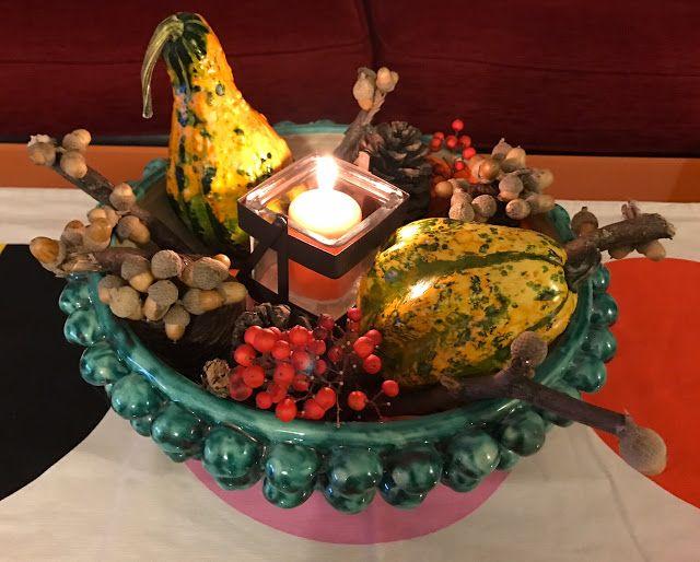 Creazione d'autunno handmade: centrotavola con i colori e profumi autunnali.